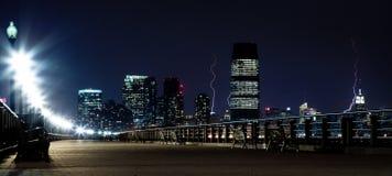 闪电曼哈顿 库存照片
