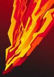 闪电海报红色 皇族释放例证
