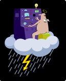 闪电设备 库存例证