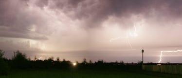 闪电风暴 库存图片