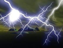 闪电 库存图片