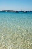 闪耀希腊的港口 库存图片