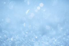 闪耀水色背景圣诞节水晶的冰 库存图片