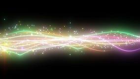 闪耀的图表微粒和发光的线 免版税图库摄影