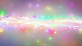 闪耀的图表微粒和发光的线 库存图片