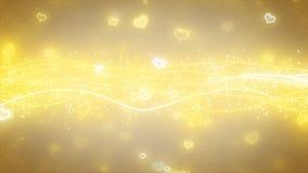 闪耀的图表微粒和发光的线 库存照片