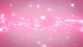 闪耀的图表微粒和发光的线 免版税库存照片