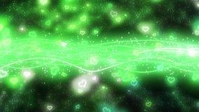 闪耀的图表微粒和发光的线 库存例证