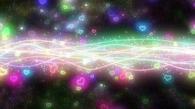 闪耀的图表微粒和发光的线 皇族释放例证
