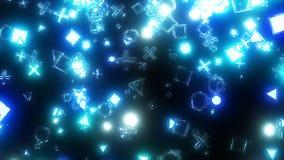 闪耀的图表微粒 图库摄影