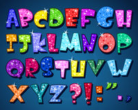闪耀的字母表 免版税图库摄影