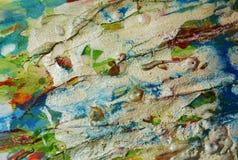 闪耀的强的蜡泥泞的背景,闪耀的泥泞的蜡状的油漆,对比在淡色颜色的形状背景 库存照片