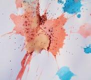 闪耀的桃红色蜡状的斑点构造,给冬天背景打蜡 免版税库存图片