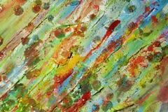 闪耀的泥泞的软的蓝色金子桃红色绿色磷光性背景和蜡 库存照片