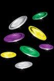闪耀的硬币 向量例证