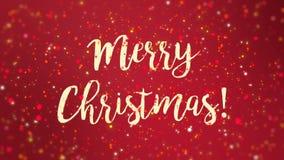 闪耀的红色圣诞快乐贺卡录影 股票视频