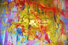 闪耀的金黄绿色弄脏了抽象背景,生动的背景,纹理 免版税库存照片