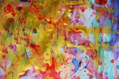闪耀的金黄被弄脏的斑点淡色抽象背景,生动的背景,纹理 免版税库存照片