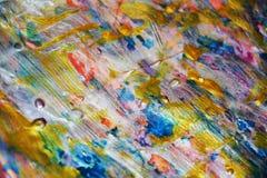 闪耀的银色金紫罗兰色桃红色蓝色淡色蜡状的抽象背景,水彩生动的背景,纹理 免版税库存图片