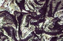 闪耀的闪光金属片的织品纹理 免版税图库摄影