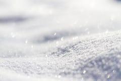 闪耀的雪 免版税库存图片