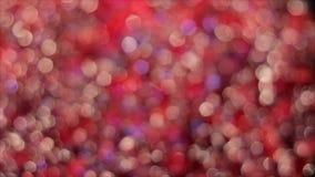 闪耀红色和桃红色摘要被弄脏的背景 影视素材