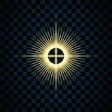 闪闪发光金星,被隔绝的透明背景 焕发亮光作用 与闪烁的金黄不可思议的爆炸,发光发光 库存例证