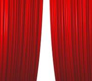 闭合值的窗帘红色 库存照片