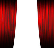 闭合值的窗帘红色 库存图片