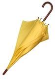 闭合的伞黄色 免版税库存照片