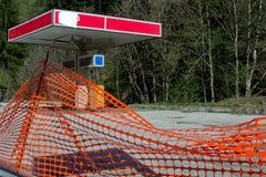 闭合的加油站 免版税库存图片