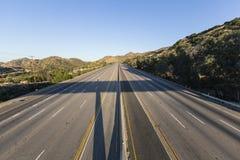 闭合的十条车道高速公路 免版税库存照片