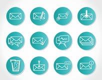 闭合的另外信包图标邮件被开张的符号 图库摄影