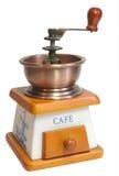 闭合的咖啡查出的磨房 免版税库存照片