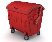闭合的容器垃圾 向量例证