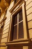闭合的意大利窗口在罗马 库存图片