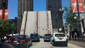 闭合的桥梁在芝加哥 免版税库存图片