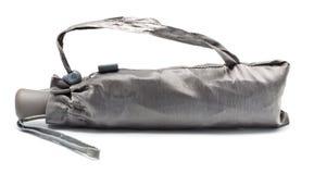 闭合的灰色伞 免版税库存图片