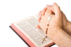 闭合的现有量祷告 免版税库存图片
