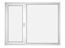 闭合的玻璃塑料视窗 免版税库存照片