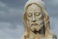 闭合的眼睛基督 免版税库存图片