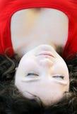 闭合的眼睛妇女年轻人 免版税库存图片