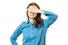 闭合的眼睛妇女年轻人 库存照片