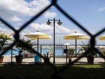 闭合的私有海滩 免版税库存照片