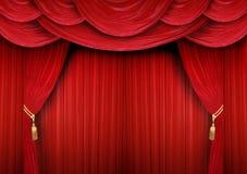 闭合的窗帘剧院 免版税图库摄影