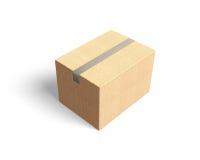 闭合的纸板箱, 3D例证 免版税库存照片