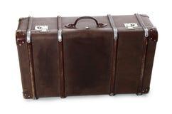 闭合的老手提箱 库存图片