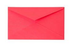 闭合的老红色纸信封 库存图片