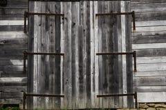 闭合的老葡萄酒木头 免版税图库摄影