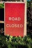 闭合的路标 免版税库存照片